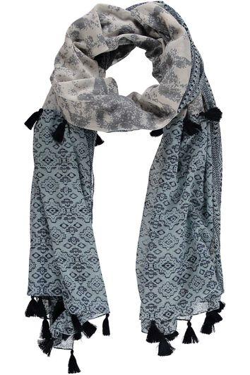 Sjaal met kwastjes