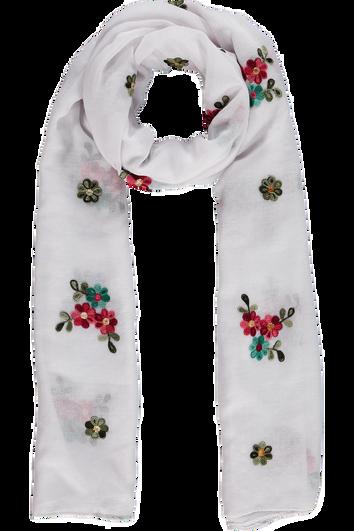 Sjaal met geborduurde bloemen