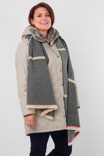 Sjaal met ruitpatroon