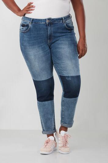 Boyfriend jeans met tekst