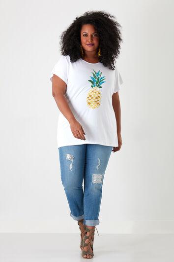 T-shirt met pailletjes
