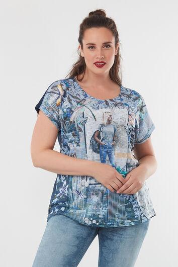 T-shirt met print en tekst