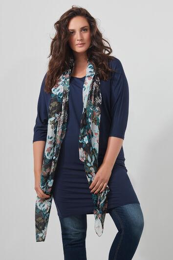 Sjaal met bloemprint