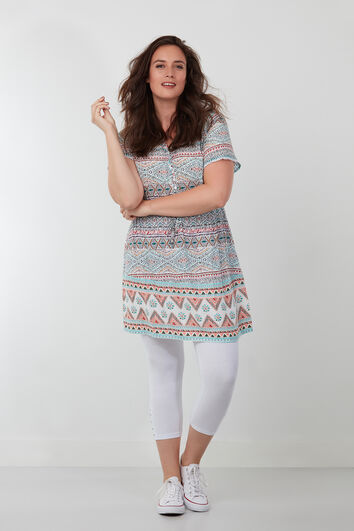 Tuniek blouse met print