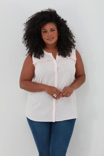 Mouwloze blouse met  volant