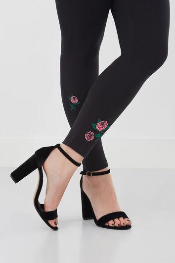Legging met bloemen