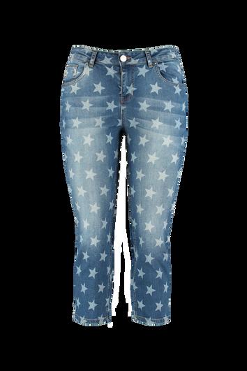Capri jeans met sterrenprint