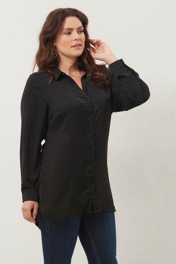 Lange blouse met crinkle
