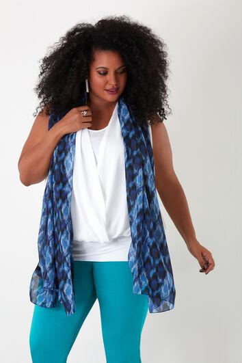 Sjaal met all over print