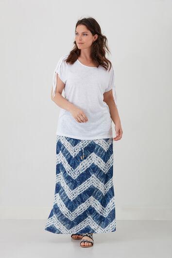 Lange rok met tie-dye print