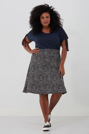 Rok met all-over print
