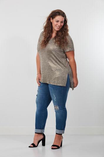 Boyfriend jeans met pailletten