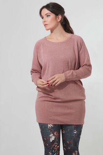 Lange trui met lurex