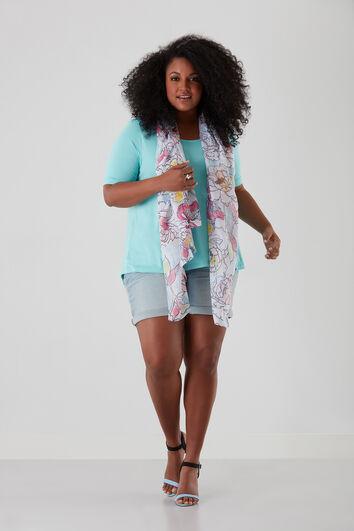 Sjaal met grote bloemenprint