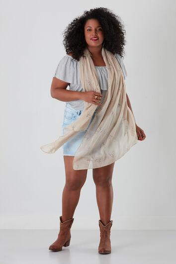 Sjaal met vogelprint