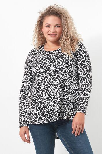 Shirt met print en langere achterzijde