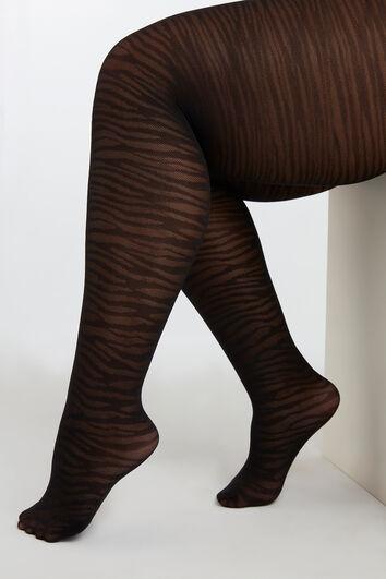 Panty met zebra dessin
