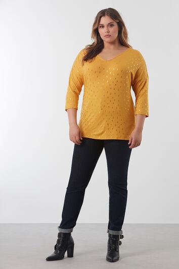 Dunne sweater met driekwart mouw