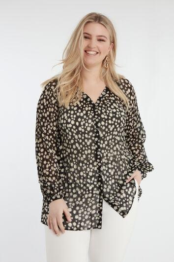 Bloemen Plissé blouse