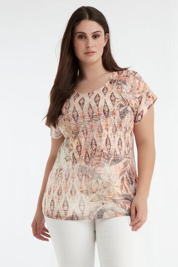 T-shirt met foil print