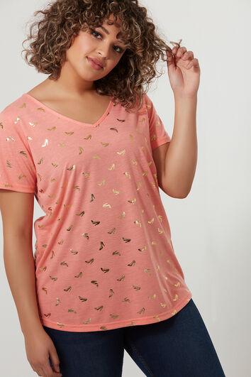 T-shirt met foilprint