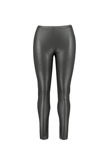 Wetlook legging met craquelé print