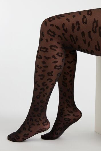Panty met luipaard dessin
