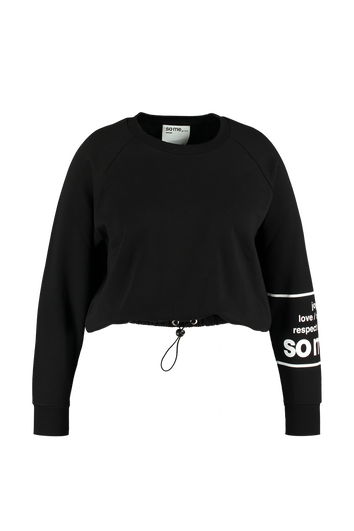 Korte sweater met drawstring