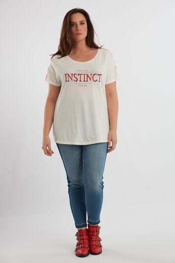 T-shirt met opdruk en sportbies