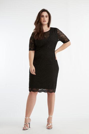 Elastische kanten jurk