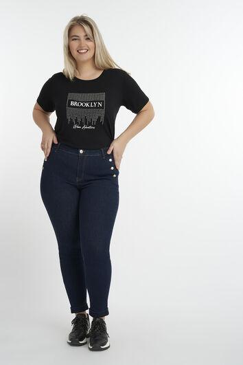 Jeans met knopendetail