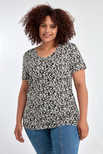 Shirt met print en korte mouw