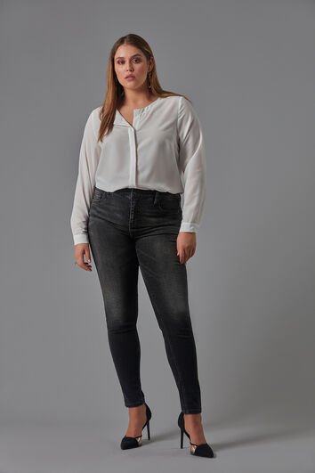 Soepelvallende blouse