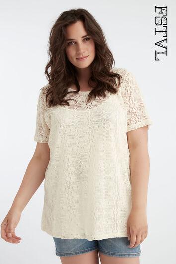 Lange crochet top