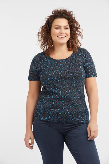 T-shirt van katoen en glitterdetail