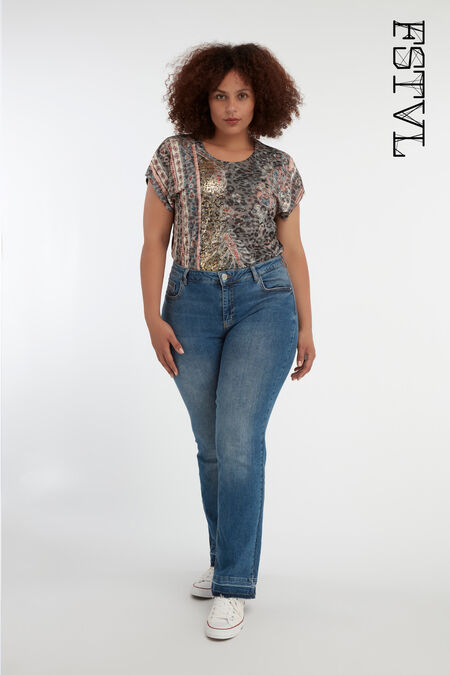 Flared high waist jeans