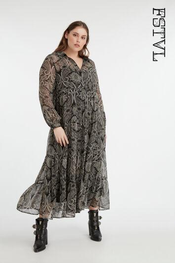 Romantische lange jurk