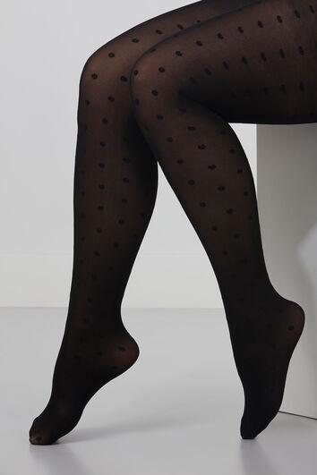 Panty met stippendessin 40 denier