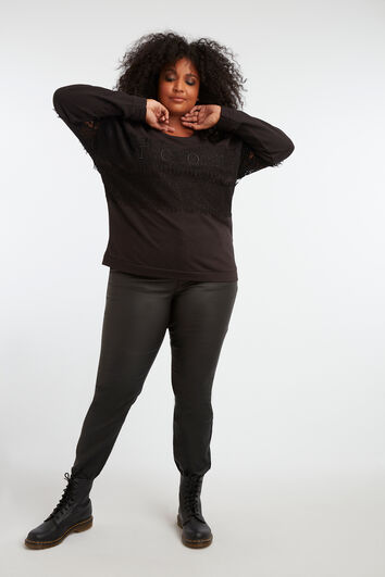 Sweater met kantdetails