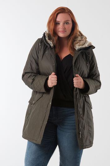 Gewatteerde jas met coating