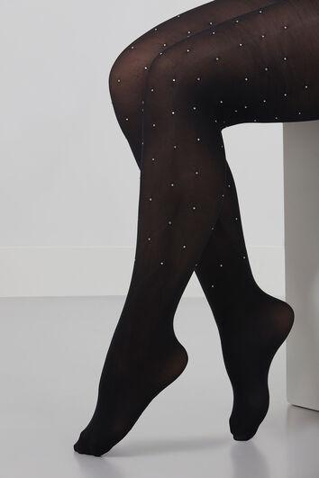 Panty met strass steentjes