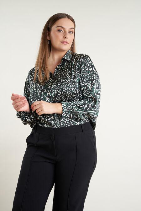 Satijnen blouse met print