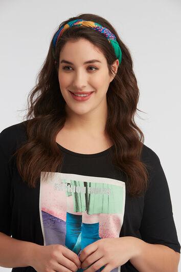 Sjaaltje met kleurenprint
