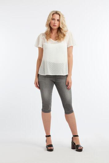 Transparante blouse met stippen
