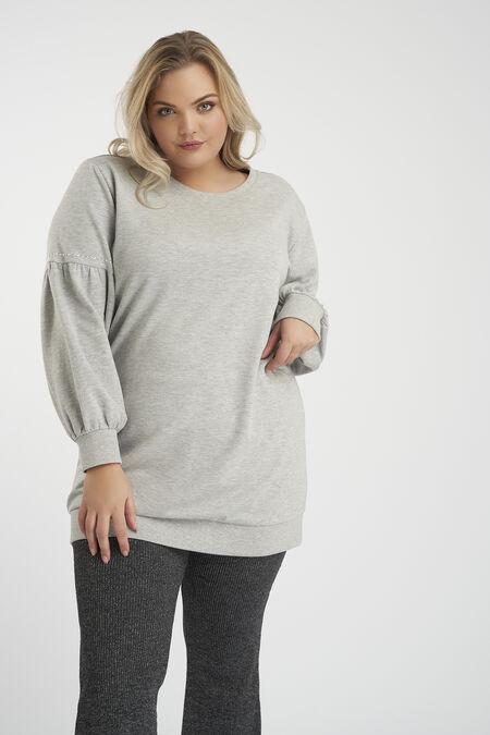 Sweatertrui met pofmouwen