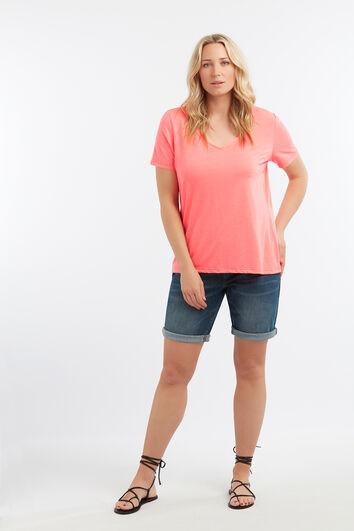 Basic T-shirt met korte mouw