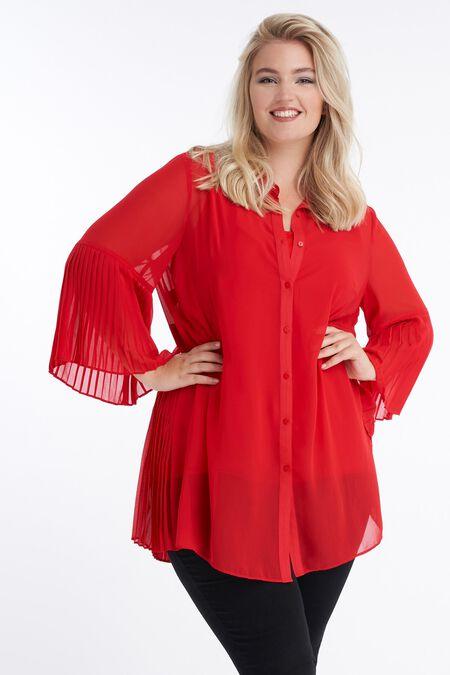 Lange blouse met trompetmouw