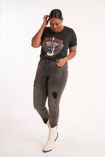 Jeans met distressed detail