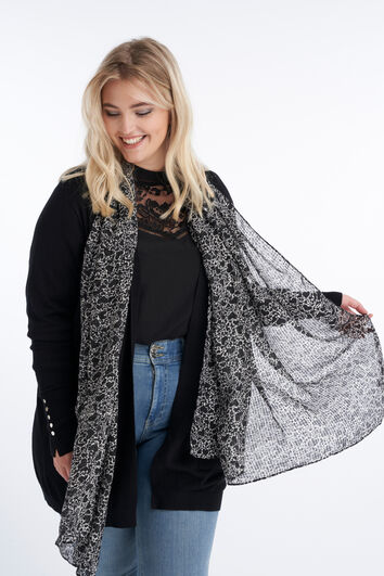 Sjaal met hartjesprint