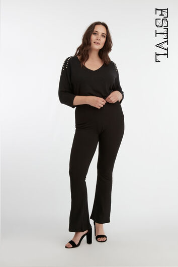 Elastische flared legging